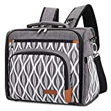 Lekebaby Diaper Bag Backpack Large Messenger Diaper Bag Convertible Baby Diaper Stachel Bag
