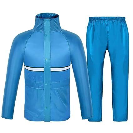 YSNUK Poncho Conjunto de chaqueta y pantalón impermeable ...