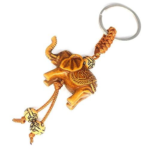 Yeucan - Llavero con diseño de elefante, amuleto de la buena ...