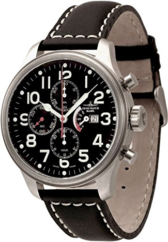 Zeno-Watch Mens Watch - OS Pilot Chrono Power Reserve - 8553TVDPR-a1