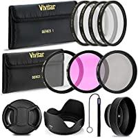 Professional 58MM Lens Filter and Close-Up Macro Accessory Kit, 9 Piece Compact Photography Accessories For Canon