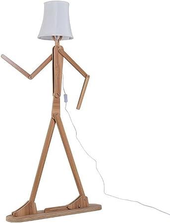 QIANGUANG Moderno lámpara de pie Creativo Original Madera 1.6 m de ...