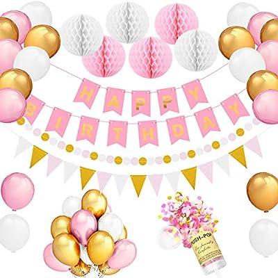 Decoraciónes Cumpleaños y Push Pop Confetti Infantil Mujer ...