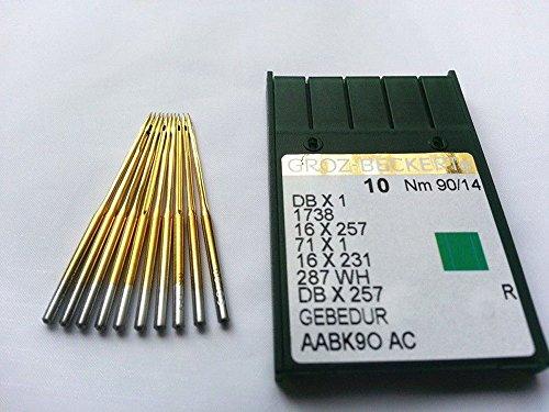 bangdan Groz-beckert Db1 Dbx1 1738 Titanium Plated 90/14 Industrial Sewing Needle 50pcs