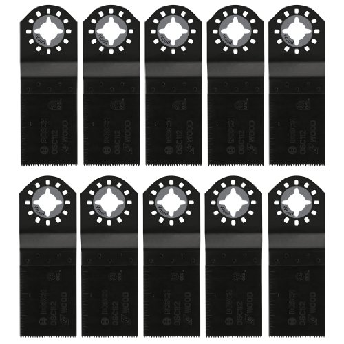 Bosch OSC112-10 1-1/4-Inch High-Carbon Steel Plunge Cut Oscillating Blade, 10-Pack by Bosch (Image #1)