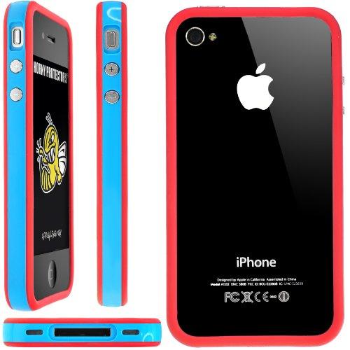 Horny Protectors Schutzhülle für Apple iPhone 4 blau/rot