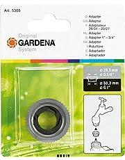 """GARDENA adapter: Schroefdraadadapter voor het aansluiten van schroefdraad aan de binnenzijde (G 1"""") op schroefdraad aan de buitenzijde (G 3/4"""") voor besproeiingssystemen (5305-20)"""
