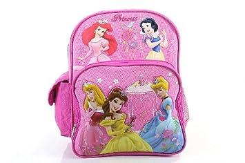 af706bb43f9 Image Unavailable. Image not available for. Colour  Disney Princess  Backpack Flower Girl s Pink BookBag