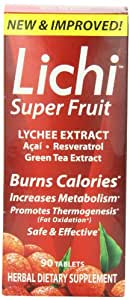 Lichi Super Fruit Herbal Dietary supplement, 90 tablets