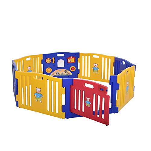 Baby Playpen Kids 8 Panel Safety Play Center Yard Home Indoor Outdoor Pen Fence Adjustable Size And Shape from Unknown