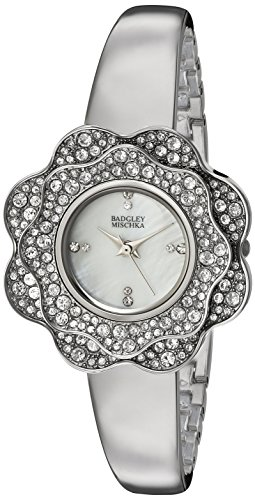 badgley-mischka-womens-ba-1363mpsv-swarovski-crystal-accented-silver-tone-bangle-watch