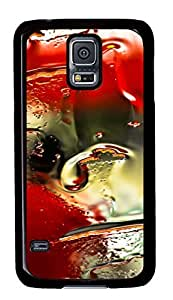Diy Fashion Case for Samsung Galaxy S5,Black Plastic Case Shell for Samsung Galaxy S5 i9600 with Water
