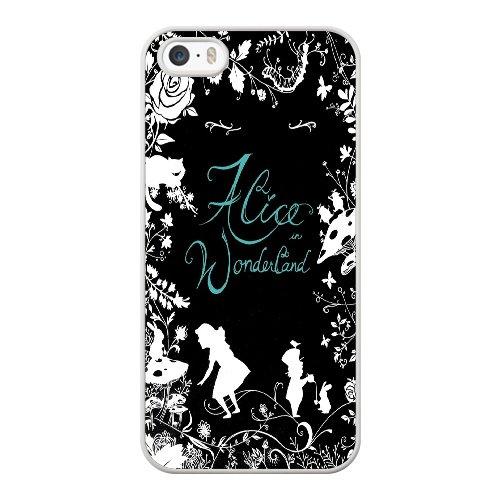Coque,Apple Coque iphone 5/5S/SE Case Coque, Generic Alice In Wonderland 2 Cover Case Cover for Coque iphone 5 5S SE blanc Hard Plastic Phone Case Cover