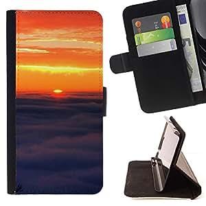 Momo Phone Case / Flip Funda de Cuero Case Cover - Sunset Beautiful Nature 91 - Apple Iphone 6 PLUS 5.5