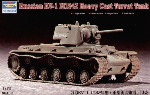 Trumpeter 1/72 Russian KV1 Mod 1942 Tank (Heavy Cast Turret)
