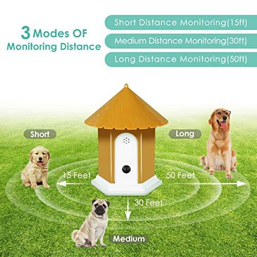 APlus+ Ultrasonic Anti Barking Device, Sonic Bark Deterrents, Bark Control and Waterproof, Indoor Outdoor, Hidden Anti-Barking Device,Dog Training and Control