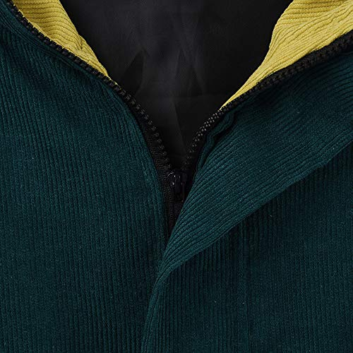 Coupe Femme Blouson Vert Blouse Tops Mode Manches Hiver Hoodie Capuche Veste Longues En À Sweatshirt Shobdw Côtelé Velours Vent Pardessus Surdimensionnée Manteau Pullover z5qBH