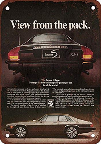 Houseuse 1977 Jaguar XJ-S Vintage Look Reproduction Metal Tin Sign 8X12 Inches