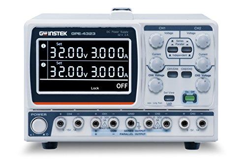 GW Instek GPE-4323 GPE-X323 Multi-Output DC Power Supply, 4 Channel, 212W, 0-32 VDC, 0-3A, 0-5V/1A, 0-15V/1A