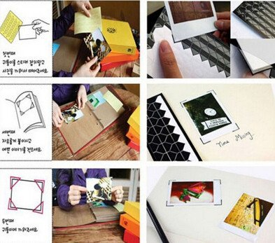 1 hoja = 102 uds marco DIY Pegatinas álbum de recortes de fotos de esquina Etiqueta de PVC papel adhesivo de decoración...