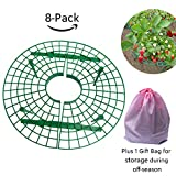 TheSunnyPiny 2018 Upgraded 8 Pack Easy to Use Strawberry Support, Plant Cradle Rack Support with 4 Sturdy Legs,Durable, Reusable, Adjustable,Plus 1 Bag for Storage,Gift Packing Purpose,