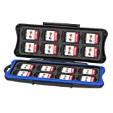 Nintendo Switch Games Case, Keten Switch Games Card Case Waterproof Anti-shock Holder Storage Micro SD Memory Card Carrying Case, 32 Slots for 16 Pieces Switch Game Cards and 16 Micro SD Cards