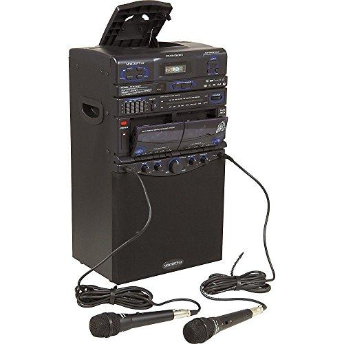 Wireless System Cassette Pa (VocoPro DVD-Duet 80W CD/Dual Cassette Karaoke System)