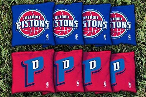 NBA Replacement All Weather Cornhole Bag Set NBA Team: Detroit Pistons
