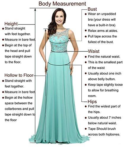 10a325957 Amazon.com  V Neck Prom Dresses Beading Chiffo Party Evening Elegant ...
