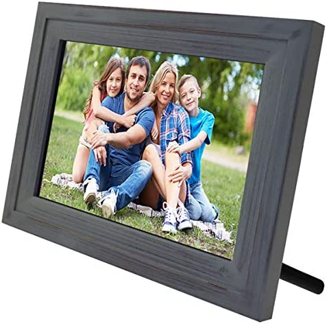 Life-Made Wi-Fi Digital Picturs Frame, Touch Screen Digital Photo Frame Works with iPhones and Android 13 – Vintage Wood