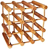 Wine Enthusiast Modular 12 Bottle Wine Rack, Natural
