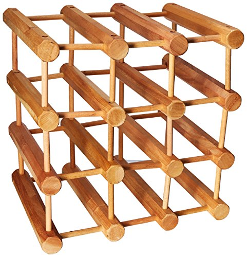 - Wine Enthusiast Modular 12 Bottle Wine Rack, Natural