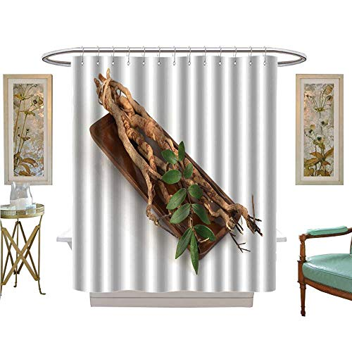 - luvoluxhome Shower Curtains 3D Digital Printing tongkat ali eurycoma longifolia Jack Medicinal Herbs Thailand Patterned Shower Curtain W72 x L96