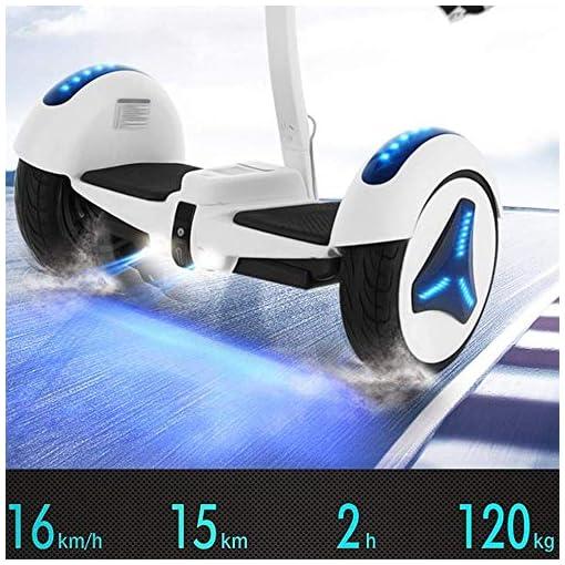 Llpeng Hoverboard Balance Scooter Scooter Auto-équilibrage, Voiture Intelligente somatosensoriel, avec Poche, Musique Bluetooth, 36V / 54V, Double Commande (Color : 54V Black/Bluetooth/APP)