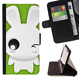 Jordan Colourful Shop - Cute Winking Bunny Rabbit For Apple Iphone 6 - Leather Case Absorci???¡¯???€????€??????????