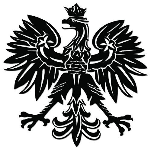 Eagle Polish (Polish Eagle Emblem Vinyl Decal Sticker For Vehicle Car Truck Window Bumper Wall Decor - [6 inch/15 cm Wide] - Gloss BLACK Color)