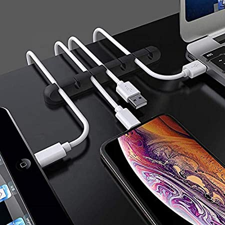 RK TECH Cable Wire Clips Ties Office or car with Adhesive Organise Your Desk Holder Tidy Management 5 Cable Holder