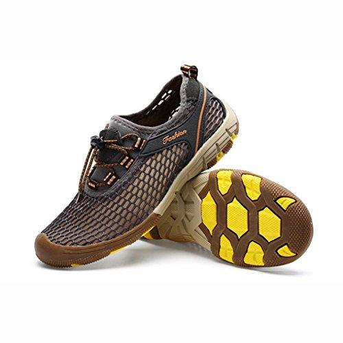da Mens Arrampicata Scarpe Trainers YaXuan Leggero sportivi Drying Sandals Dimensione UN traspirante Colore Quick Summer Shoes Sneaker B Outdoor spiaggia Escursioni Sandali Mesh 47 q7wf7ad4x