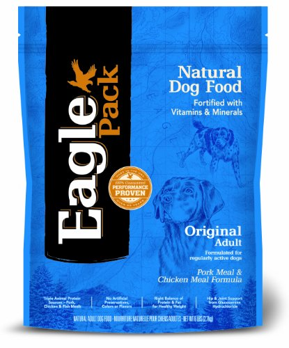 Eagle Pack Natural Pet Food, Original Adult Pork Meal and Chicken Meal Formula for Dogs, 6 lb Bag, My Pet Supplies