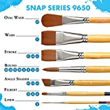 Princeton Snap White Synthetic Paint Brush Set for