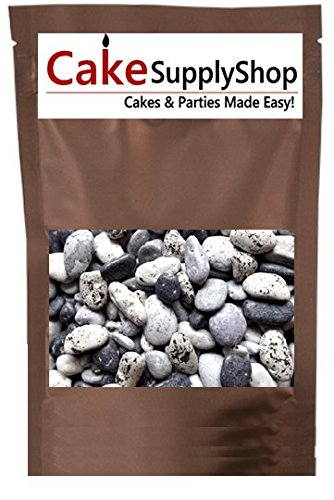 Edible Beach Sea Side Rocks For Cake Decoration and Candy Buffets (8oz Chocolate Beach Peebles) Chocolate Candy Cake