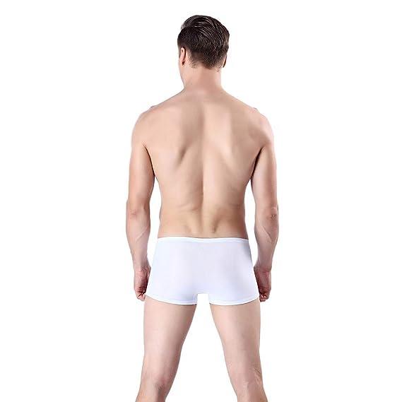 Yesmile Calzoncillos Bóxer para Hombre, Trunks Sexy Underwear Mens Boxer Briefs Shorts Bulge Pouch Modal Calzoncillos: Amazon.es: Ropa y accesorios