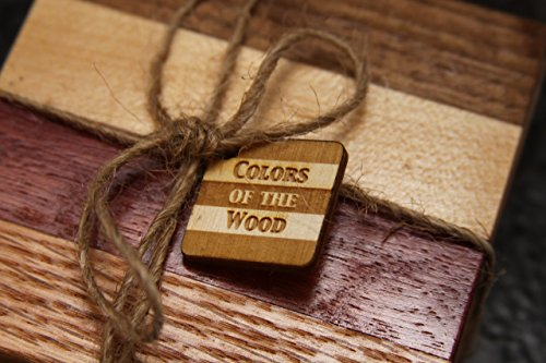 Set of Natural Wood Coasters (Purpleheart) by Colors Of The Wood (Image #6)