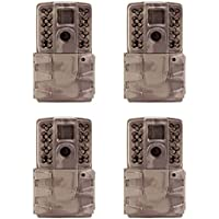 Moultrie A-30i 12MP 60 HD Video No Glow Infrared Game Trail Camera (4 Pack)