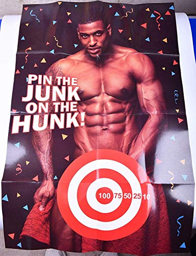 - Bachelorette Party Games and Supplies Pin The Love Muscle on Romeo Poster Game for Birdal Showers Bachelorette Party Decorations