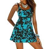 Slim Bloom Women's Plus Size Floral Bikini Swimsuit Swimwear Beach Dress Beachwear XL