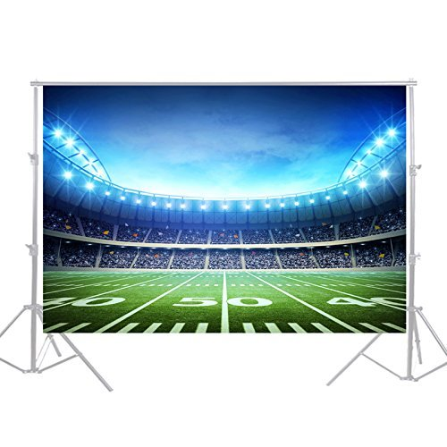 HUAYI Football Field Backdrop Newborn Photography Props Photography Background Baby Photo Studio Props 5x7ft YJ-024]()