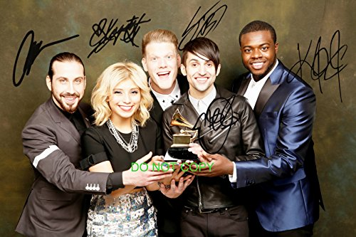 (Pentatonix a cappella group reprint signed autographed 12x18 poster photo by all 5#1)