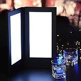 Yescom 5.5''x11inches 2-Panel LED Backlit Illuminated Black Leatherette Menu Holder/Check Displayer
