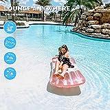 Swimline Inflatable Rose Wine Bottle Pool Float